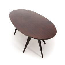 Tavolo con piano ovale anni '50, ico parisi style, vintage dining table, 50s