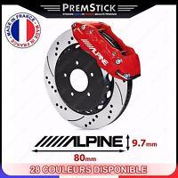 Kit 4 Stickers Etrier de Frein Alpine ref1; Auto voiture autocollant