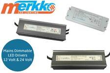 LED Driver Mains Dimmable Power Supply Transformer AC/DC 12V 24V C/V Strip