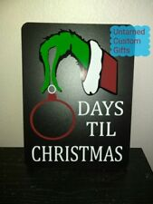 Countdown for Christmas Chalkboard Grinch how many days before christmas