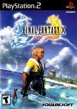 "Playstation 2  PS2 FINAL FANTASY X  Box Cover Photo Poster Decor ""NO GAME"""