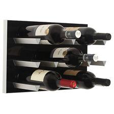Vinowall Wall Mounted Wine Rack 12 Bottle (Black Finish)
