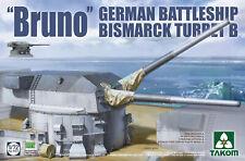 "TAKOM 5012 NEW 1/72  Bismarck Battleship Gun Turret B""Bruno"" Plastic model kit"
