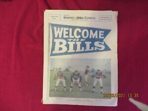 SUPER RARE: 1963 Buffalo Bills newspaper preseason preview (Kemp, Cookie front)
