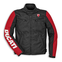 Ducati Men Street Motorbike Racing CE Armour Motorcycle Leather Sports Jacket