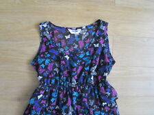 **AGE 9 GIRLS LONG TOP/SHORT DRESS, BUTTERFLY PRINT, TEIRD, BRIGHT COLOURS(P4)**