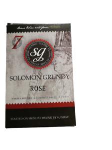 SOLOMON GRUNDY CLASSIC 6 BOTTLE WINE KIT -  ROSE - 7 DAYS TO MAKE