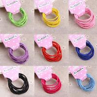 10Pcs Kids Girls Elastic Hair Rope Ponytail band ties hair accessories Fine Z