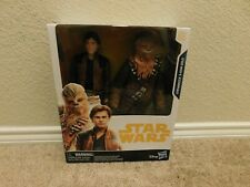 New in box Disney Hasbro Star Wars Chewbacca & Han Solo figures w/ 2 accessories