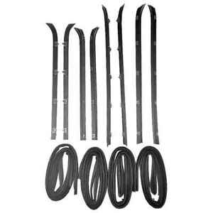 Sweep Belt & Glass Run Window Channel 12 Pc Kit for 81-86 Chevy Pickup Suburban