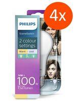 4 x PHILIPS LED Lampe E27 14W=100W Sceneswitch 2700K/4000K Warmweiß/Neutralweiß