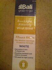 """HOME DEPOT BALI Grab n Go 2"""" Light Filtering VINYL BLIND 72"""" X 64"""" White"""