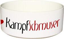 Keramik FUTTERNAPF Hundenapf mit Spruch KAMPFSCHMUSER - 1.300ml