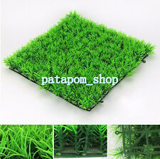 1Pc Artificial Water Aquatic Green Grass Plant Lawn Aquarium Fish Tank Landscape