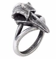 Rabeschadel Kleiner Small Raven Skull Odin Fine Pewter Ring Alchemy Gothic R220