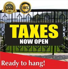 Taxes Now Open Banner Vinyl / Mesh Banner Sign Income Taxes Tax Services We Cash
