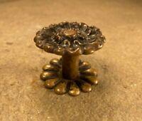 Antique Ornate Brass Dresser Drawer Cabinet Furniture Pull Knob w/ Rose Hardware