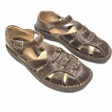Born Brown Leather Fisherman Hiking Sandals Shoes Buckle Strap Womens Size 11M