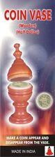 Appearing Vanishing Coin Vase Magic Trick Wood Disappearing Money Half Dollar
