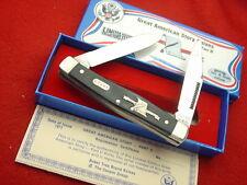 "Boker USA made American Story 4"" Monroe Doctrine moose 2 Blade LTD Knife UNUSED!"
