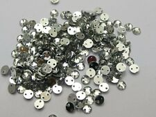 40 Crystal Clear Round Acrylic Button 2 Holes Sew On Beads Wedding/Craft 10mm