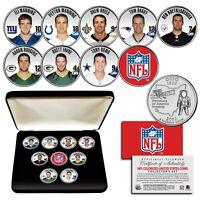 NFL Future Hall of Fame Quarterbacks Ohio Statehood Quarter 9-Coin Set BOX Favre