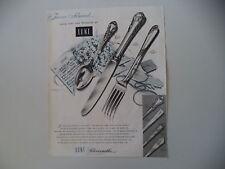 advertising Pubblicità 1953 LUNT SILVERSMITHS