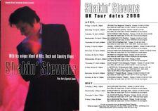 SHAKIN' STEVENS - Original Concert Flyer SHAKIN' STEVENS CONCERT TOUR 2000 F#39