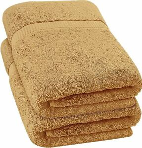 Utopia Towels - Luxurious Jumbo Bath Sheet (35 x 70 Inches, Beige) - 600 GSM 100