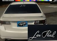 """(2) 4"""" les paul vinyl Decal sticker any size color surface car guitar S697"""