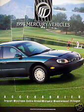 1998 Mercury Vehicles Accessories brochure