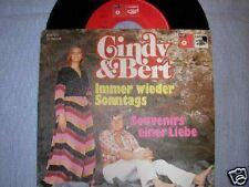"""7"""" CINDY & BERT IMMER WIEDER SONNTAGS SOUVENIRS  BASF"""