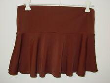 Victorias Secret brown skirt swimsuit cover up drop fold over waist-XS