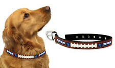 Dallas Cowboys Large Leather Lace Dog Collar [NEW] Pet Cat Lead CDG NFL