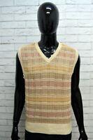 Maglione MARLBORO CLASSICS Uomo Taglia L Pullover Cardigan Cotone Smanicato