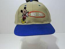 a2c2e2f8f0065 Vintage 90 s Disney s Mickey Mouse Deadstock New Tan Cap Hat Drew Pearson  NWT