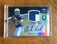 2012 Topps Chrome Andrew Luck Rookie Patch Auto /50 2-Color Jersey Colts Rc