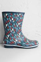 Seasalt - Lino Drops Granite Deck Wellington Boots - New In Box - Multi - Size 7
