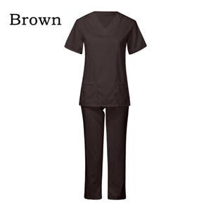 Medical Doctor Nursing Scrubs Set Hospital Uniform Costume Unisex Men Women
