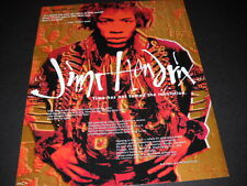 Jimi Hendrix The Legend Lives On. 1993 Promo Poster Ad mint condition