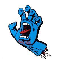 Santa Cruz Screaming Hand Skateboard Sticker Decal 6in blue si LARGE