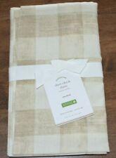 Pottery Barn Rhett Check Standard Pillow Sham Neutral Taupe Ivory New