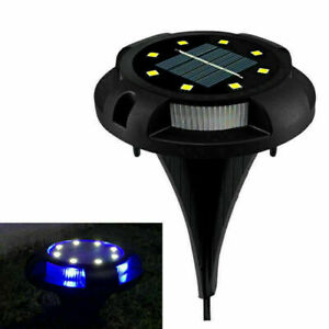 4 x Solar In-Ground Lights, Yard Garden Pathway Outdoor Disk Lights With 12 LED
