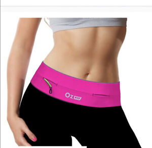 Waist Exercise Fitness & Running Belt Flip Style Pouch For Mobile Cash Keys Pink