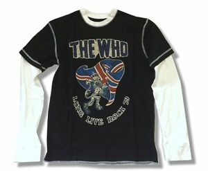 The Who Long Live Rock 1979 Black Twofer Thermal Shirt New Official Reissue