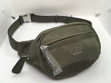 Guess Olive Green  Mini Fanny Pack Pouch Belt Bag Two Zippers AA701781 New