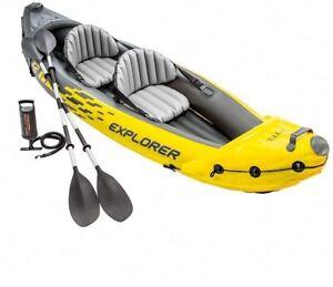 INTEX K2 Explorer - 2 Person Inflatable Kayak + Pump Oars Bag ✅ FREE UK DELIVERY