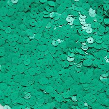 6mm Sequins Green Opaque. Made in USA