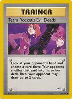 Team Rocket's Evil Deed Trainer Uncommon Pokemon Card Neo Destiny 103/105