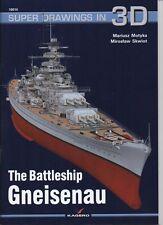 *The German Battleship Gneisenau - Super Drawings in 3D - Kagero